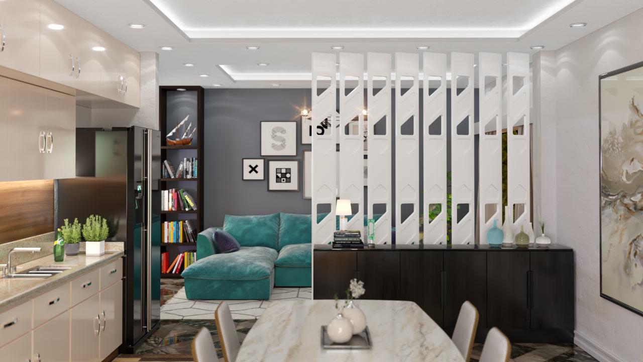 Brises decorativos em PET Tramezzo modelo Azure Cor Branco Brises em MDF revestidos com resina pet Código BRS04
